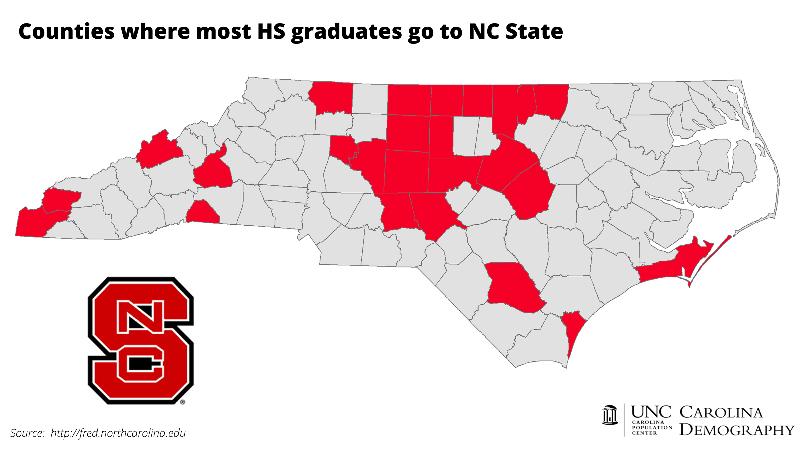 Nc State Map County.College Bound Nc Counties And Unc School Attendance Carolina