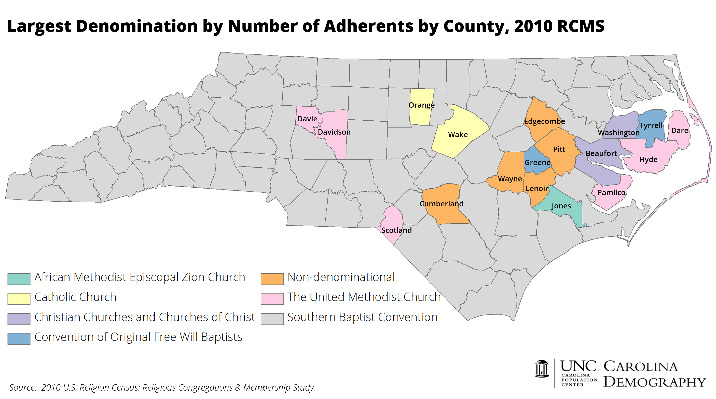 Religion In North Carolina Southern Baptists Dominate - Religion map of world 2014