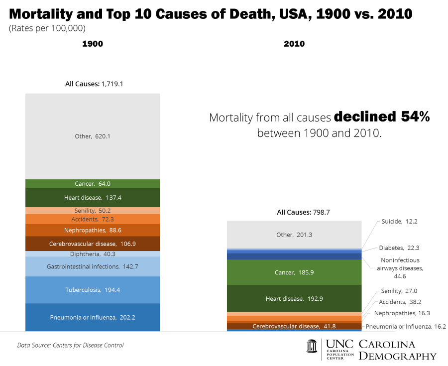 All Cause Mortality and Top 10_USA