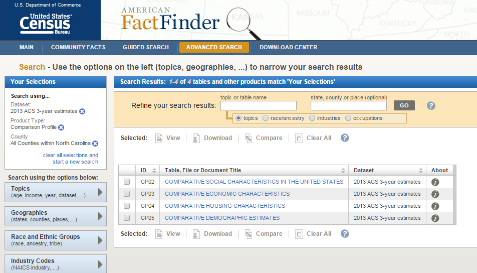Step 5 American FactFinder