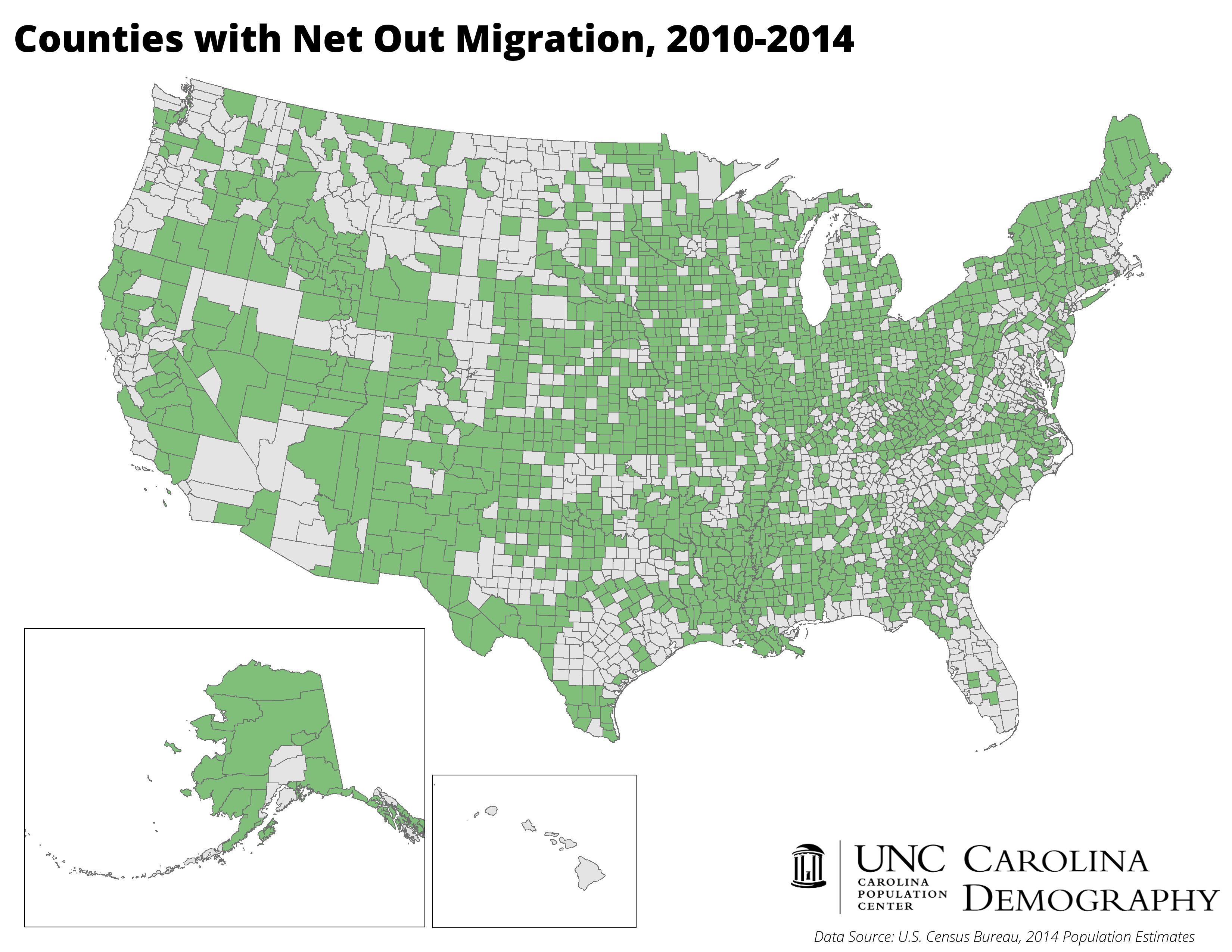Nationwide Majority Of Counties Have Lost Population Since - Counties in us by population