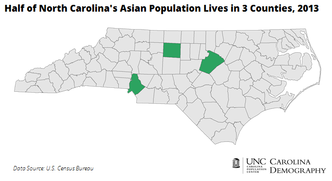 Half of NC Asian Population Lives in 3 Counties