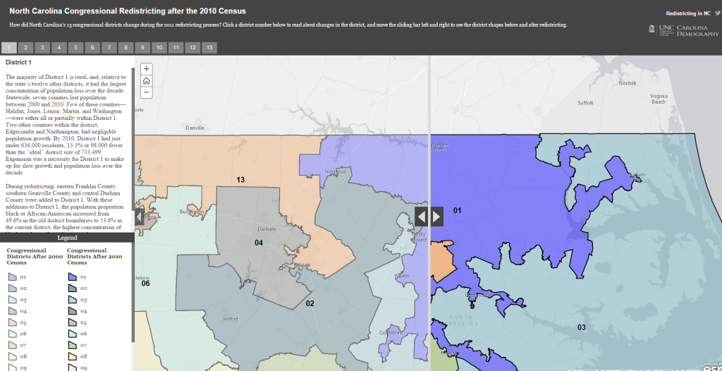 North Carolina Congressional Redistricting after the 2010 Census