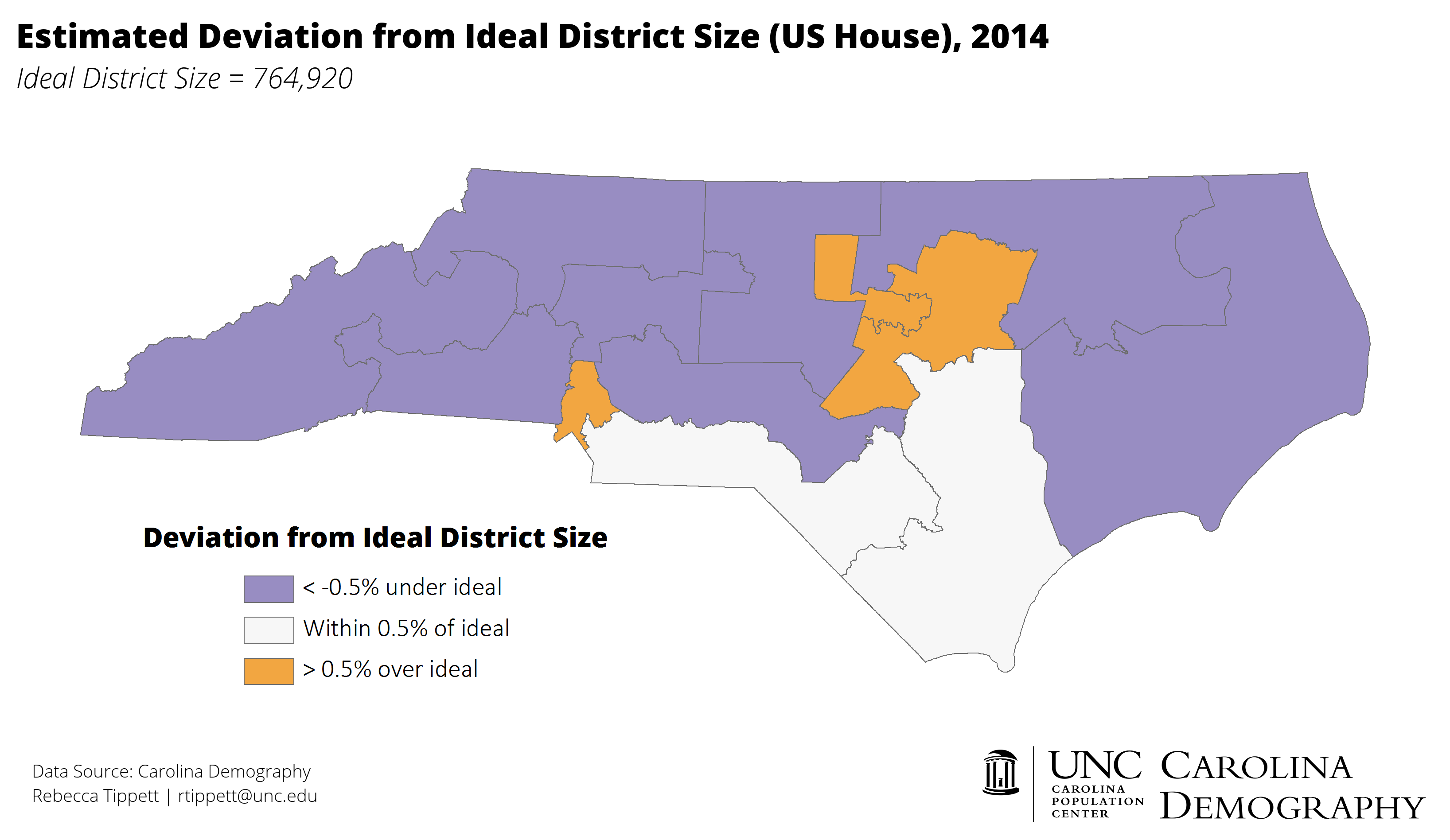 UPDATED NC House District Population Estimates And Deviation From - Us house of representatives map 2014