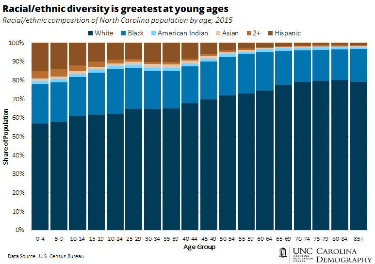 Racial ethnic diversity greatest at young ages