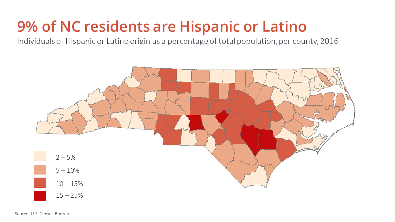 north carolina hispanic singles This report presents demographic, social, economic, and health information about north carolina's hispanic/latino population a variety of topic areas.