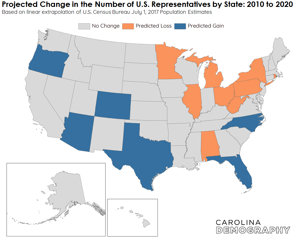 2020 Congressional Reapportionment An Update Carolina Demography