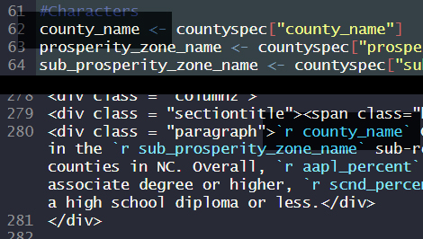 Code snip: county_name
