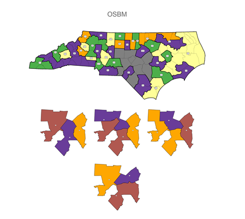 four potential county clusters